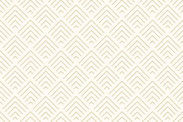 wzór bez szwu abstrakcyjne tło chevron złoty kolor i linia. wektor linii geometrycznej. - tajlandia stock illustrations