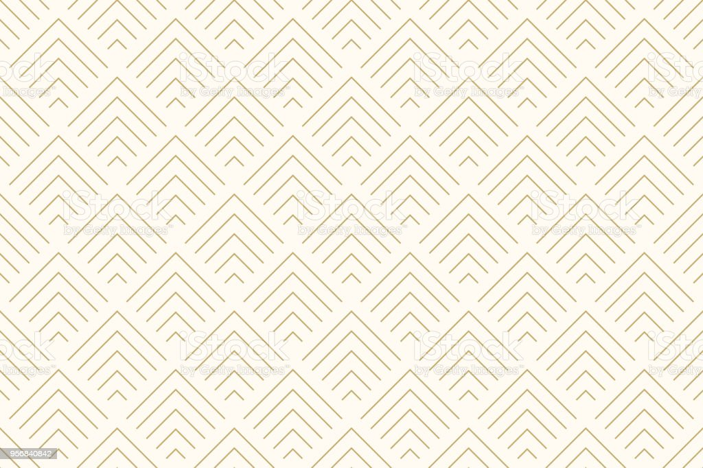 Pattern seamless abstract background chevron gold color and line. Geometric line vector. vector art illustration