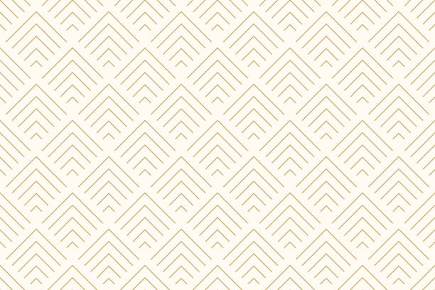 illustrazioni stock, clip art, cartoni animati e icone di tendenza di pattern seamless abstract background chevron gold color and line. geometric line vector. - sfondo retrò e vintage