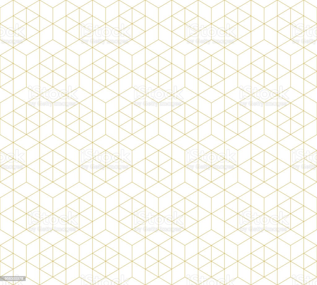 Pattern seamless abstract background white color and gold line. Geometric line vector. vector art illustration