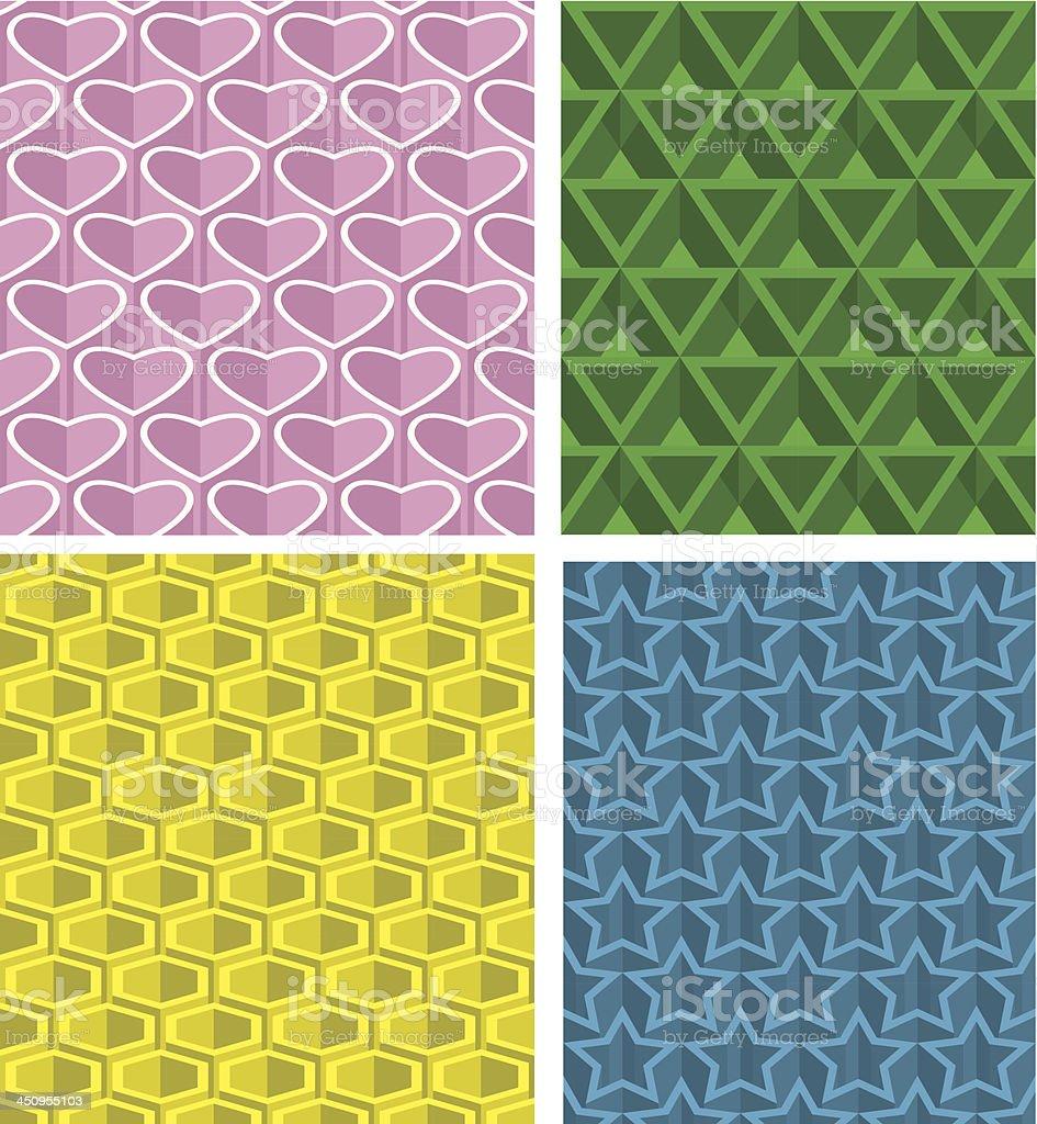 Pattern seamless background vector art illustration