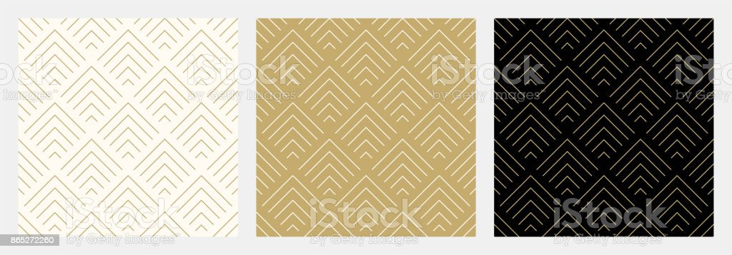 Pattern seamless chevron abstract wave background stripe gold luxury color and line. Geometric line vector. royalty-free pattern seamless chevron abstract wave background stripe gold luxury color and line geometric line vector stock illustration - download image now