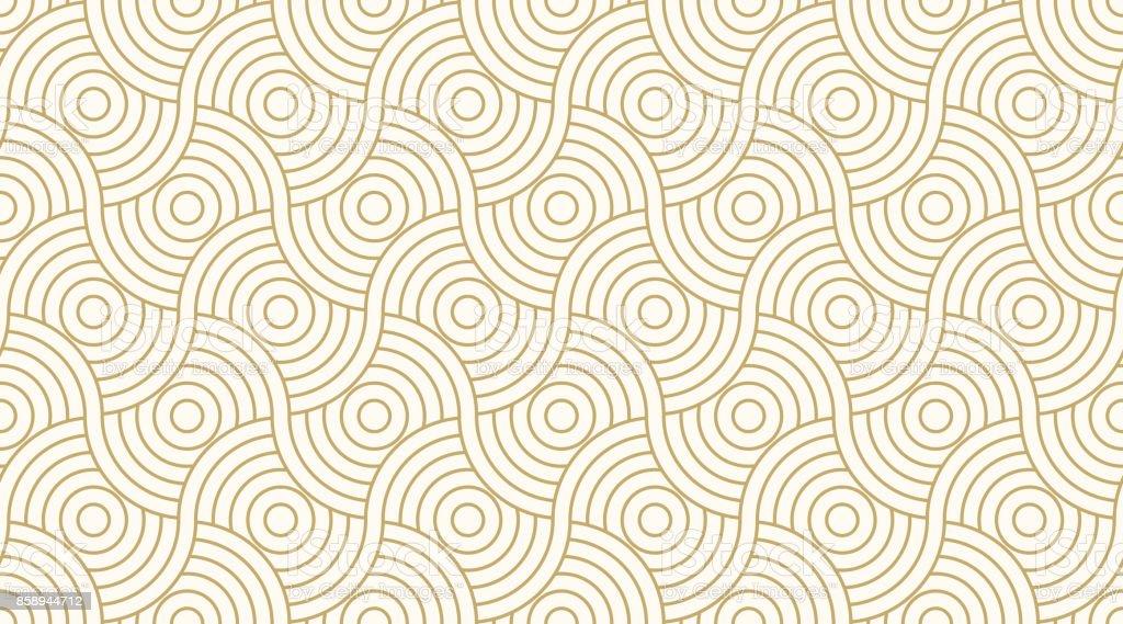 Muster nahtlos Kreis abstrakte Welle Streifen gold Luxus Hintergrundfarbe und Linie. Geometrische Linie Vektor. Lizenzfreies muster nahtlos kreis abstrakte welle streifen gold luxus hintergrundfarbe und linie geometrische linie vektor stock vektor art und mehr bilder von abstrakt