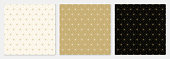 Pattern seamless cube and triangle abstract background gold luxury color geometric vector.