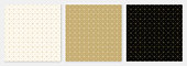 Pattern seamless square and triangle abstract background gold luxury color geometric vector.