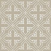 Pattern with floral motifs. Golden Victorian background. Damask pattern.Vector illustration