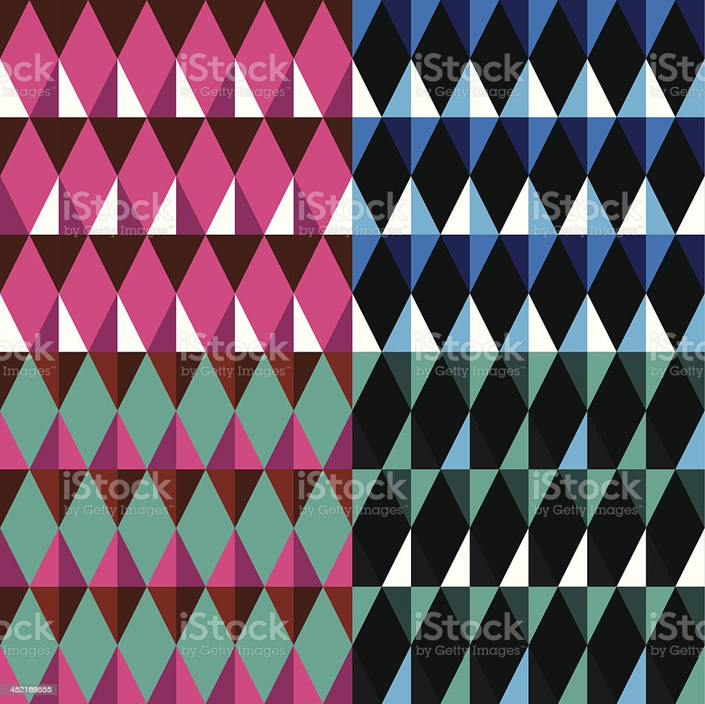 Pattern set royalty-free stock vector art