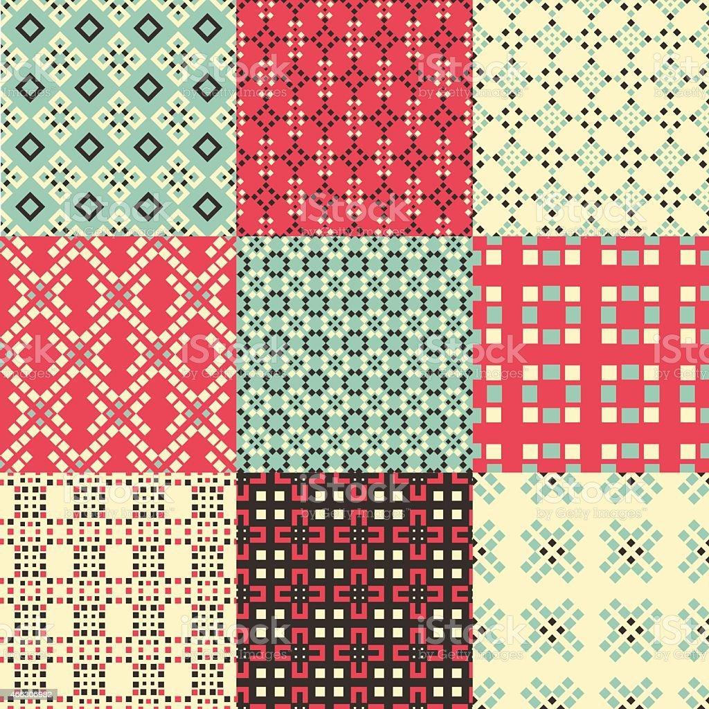Pattern Set vector art illustration