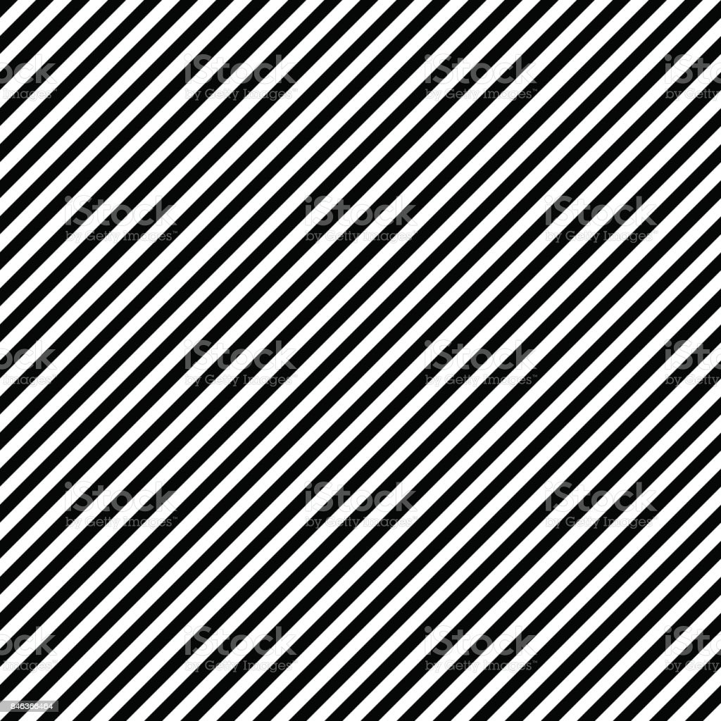 Pattern stripe seamless black and white colors. Diagonal pattern stripe abstract background vector. vector art illustration