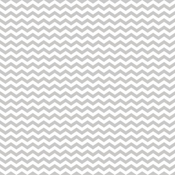 illustrazioni stock, clip art, cartoni animati e icone di tendenza di pattern stripe seamless gray and white colors. wave pattern stripe abstract background vector. - zigzag