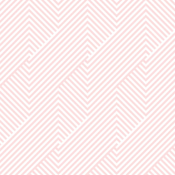 pattern stripe seamless pink and white colors valentine background. chevron pattern stripe abstract background vector. - cute stock illustrations
