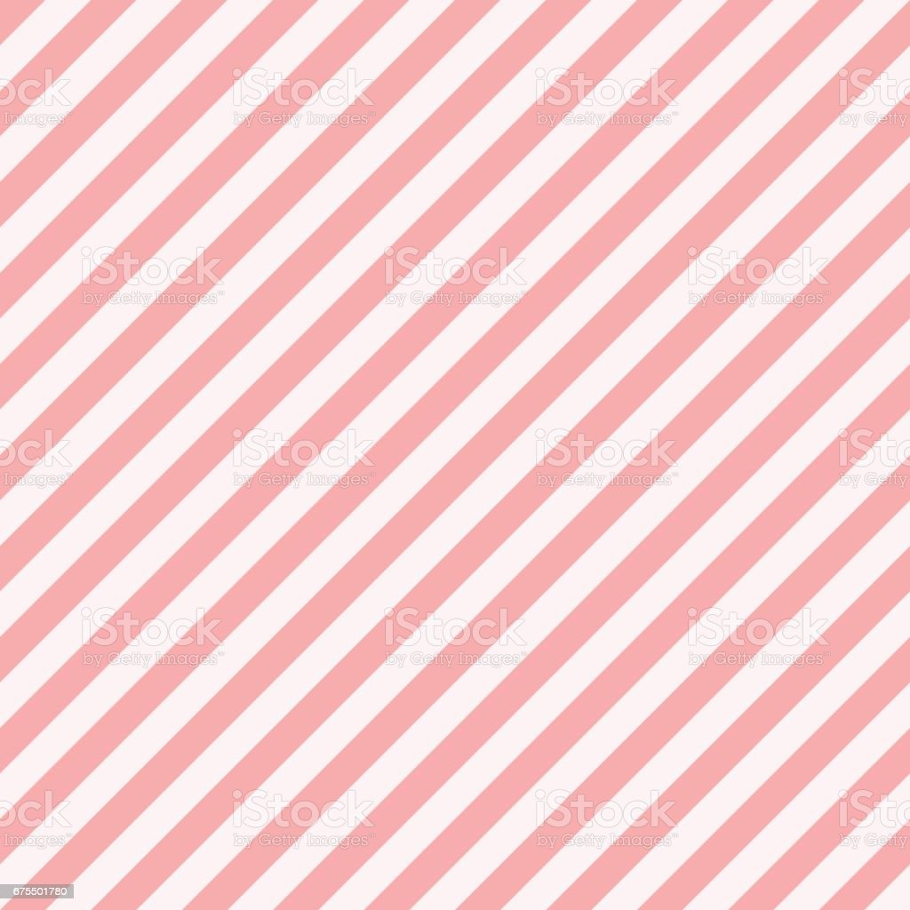 Pattern stripe seamless sweet pink two tone colors. Diagonal stripe abstract background vector. vector art illustration