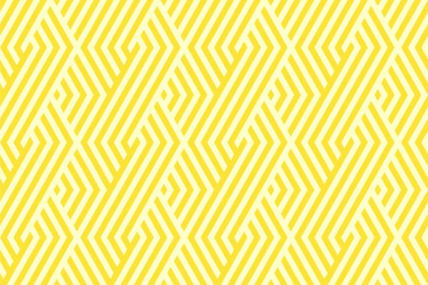 패턴 스트라이프 원활한 노란색 2 톤 색상입니다. 쉐 브 론 스트라이프 추상 배경 벡터입니다. - 노랑 stock illustrations
