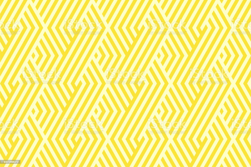 Pattern stripe seamless yellow two tone colors. Chevron stripe abstract background vector. - ilustração de arte vetorial