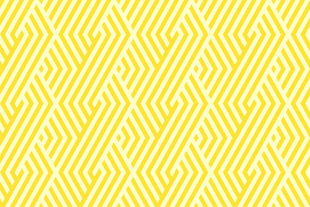 illustrazioni stock, clip art, cartoni animati e icone di tendenza di pattern stripe seamless yellow two tone colors. chevron stripe abstract background vector. - pattern