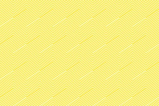 bildbanksillustrationer, clip art samt tecknat material och ikoner med mönster rand sömlös gul två klangfärger. chevron stripe abstrakt bakgrund vektor. - gul bakgrund