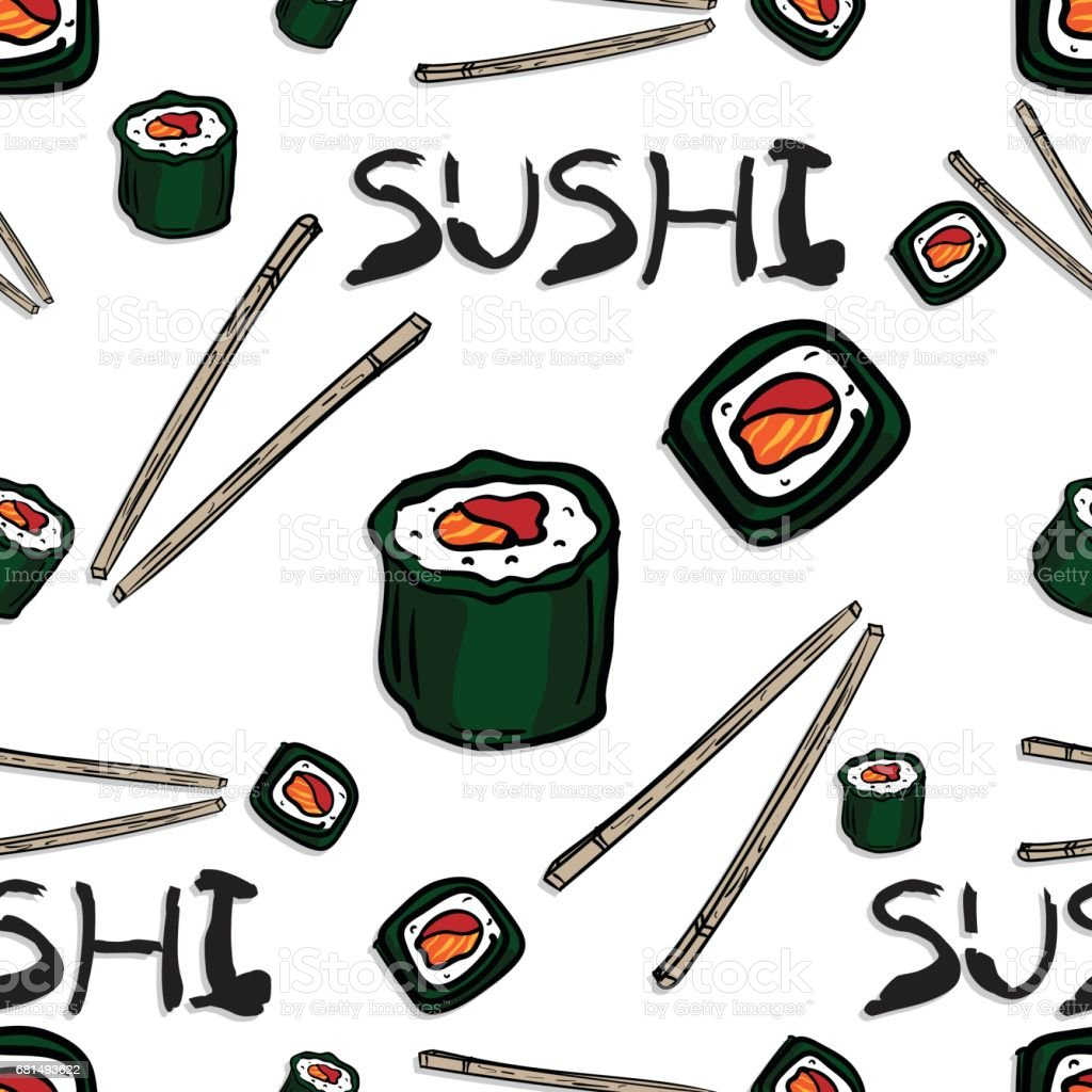 pattern sushi graphic background object royalty-free pattern sushi graphic background object stock vector art & more images of art