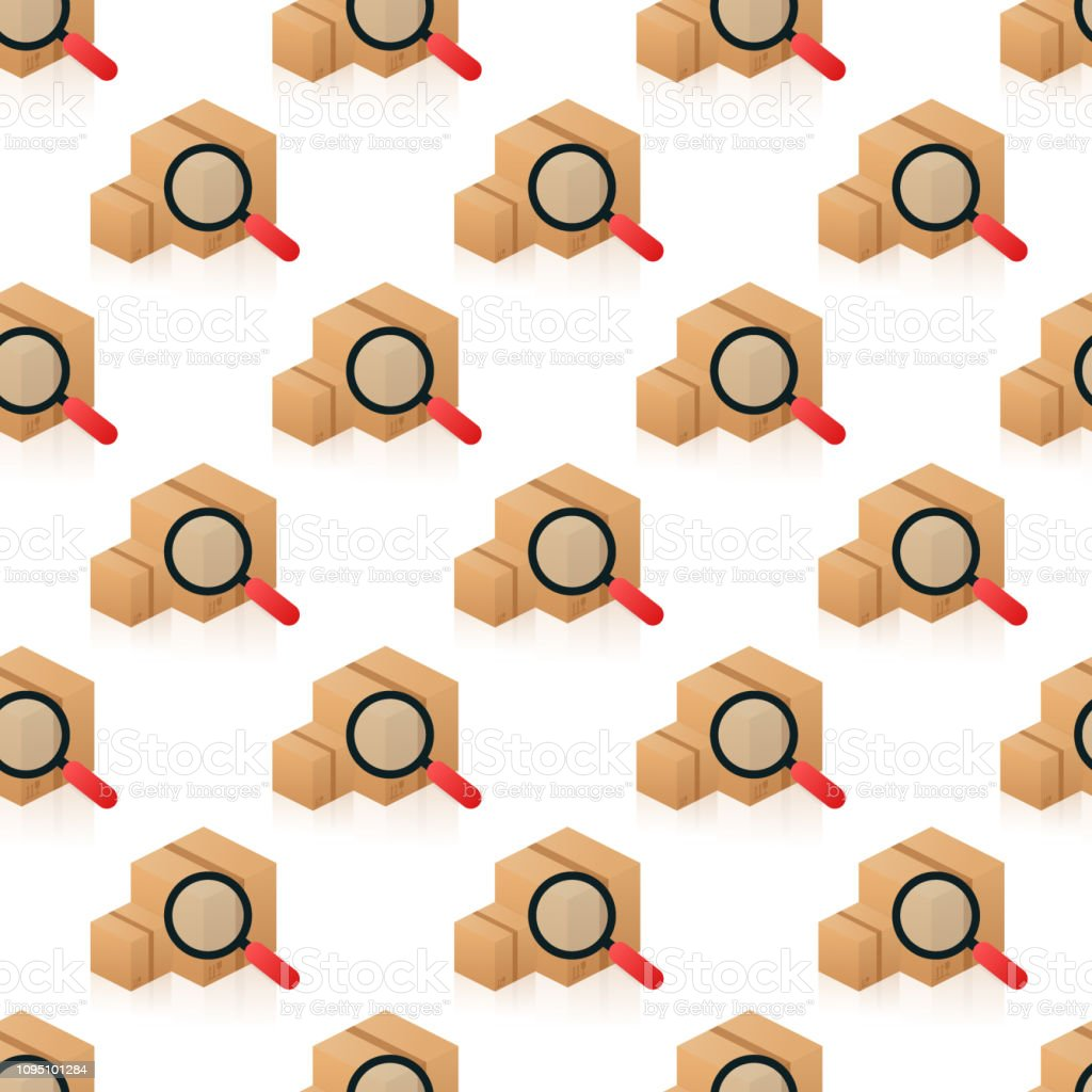 Pattern Tracking parcel services on white background. Vector stock...
