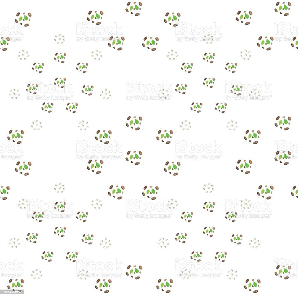 Ilustración de Un Patrón Con Una Simple Textura De Granos De Café Y ...