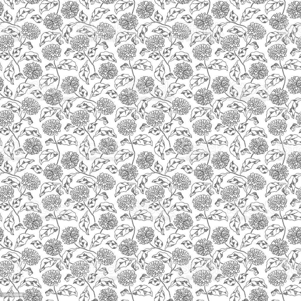 Ilustración de Patrón Con Flores Abstractas Página De Libro Para ...