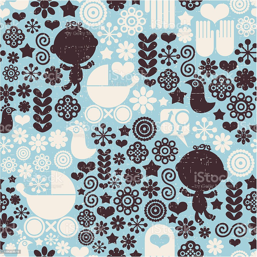 Pattern with baby. royalty-free stock vector art