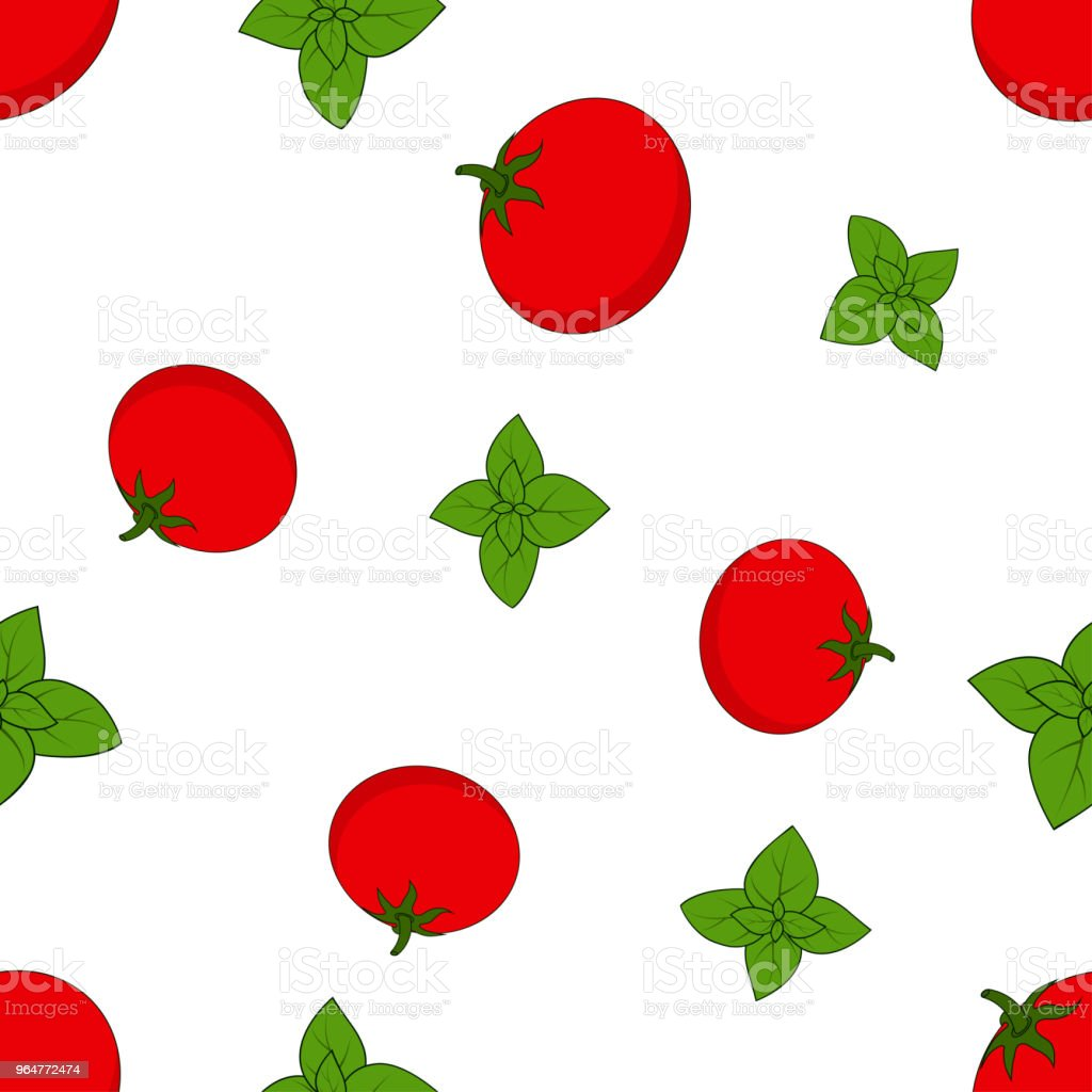 pattern with basil and tomato royalty-free pattern with basil and tomato stock vector art & more images of backgrounds
