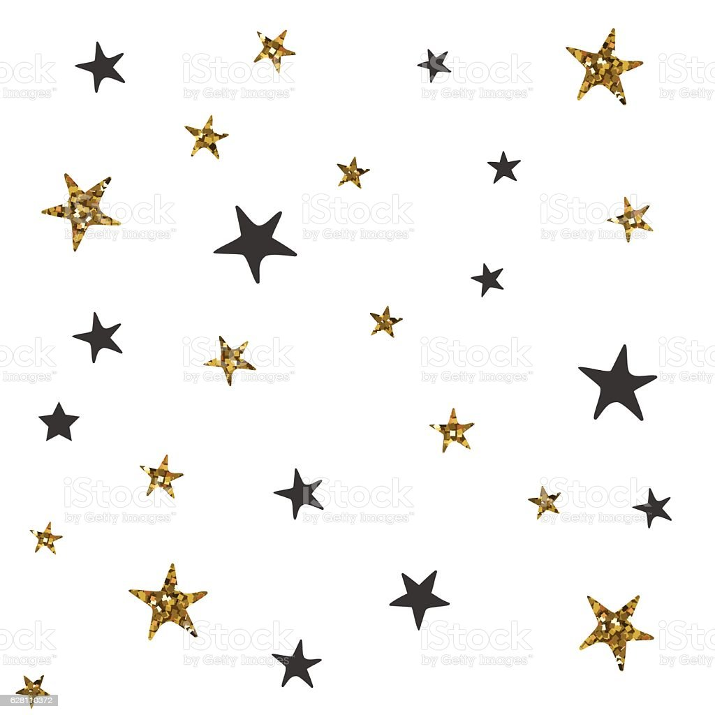 Pattern With Black And Gold Stars Stock Vector Art & More ... - photo #40
