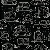Pattern with cars