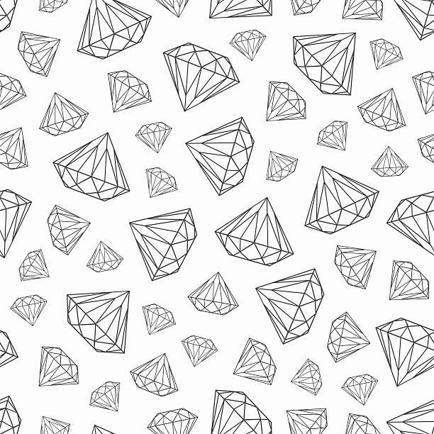 muster mit diamanten - modeschmuck stock-grafiken, -clipart, -cartoons und -symbole