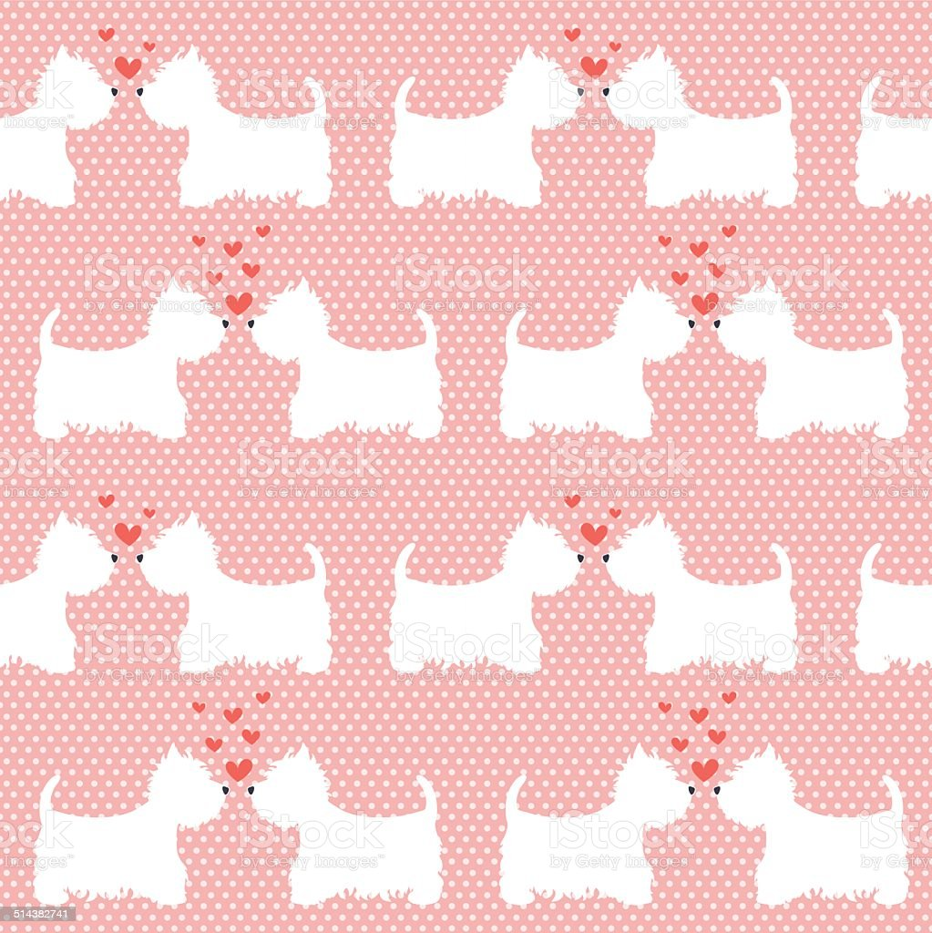 Pattern with  dogs. vector art illustration