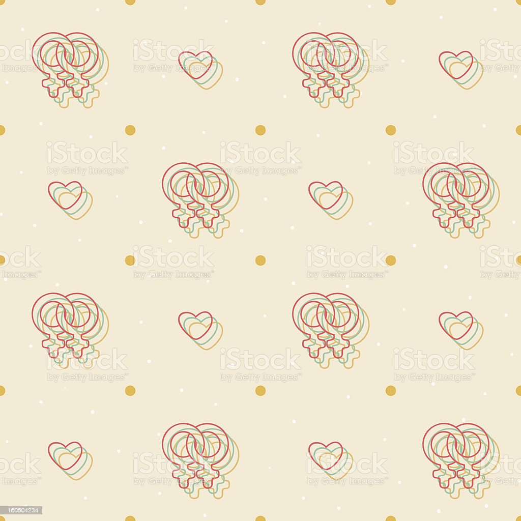 Pattern with female homosexual symbol royalty-free pattern with female homosexual symbol stock vector art & more images of adult