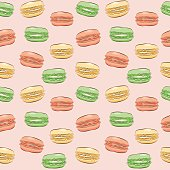 Pattern with french macarons