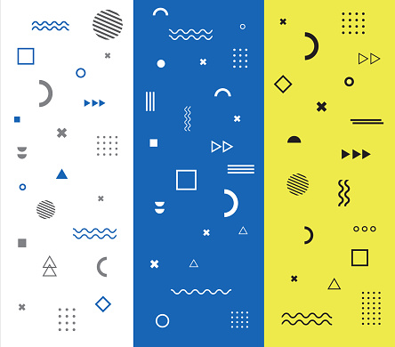 pattern with geometric shapes. Vector illustration