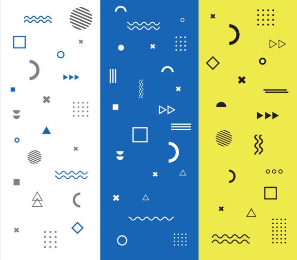 muster mit geometrischen formen. vektor-illustration - designelement stock-grafiken, -clipart, -cartoons und -symbole