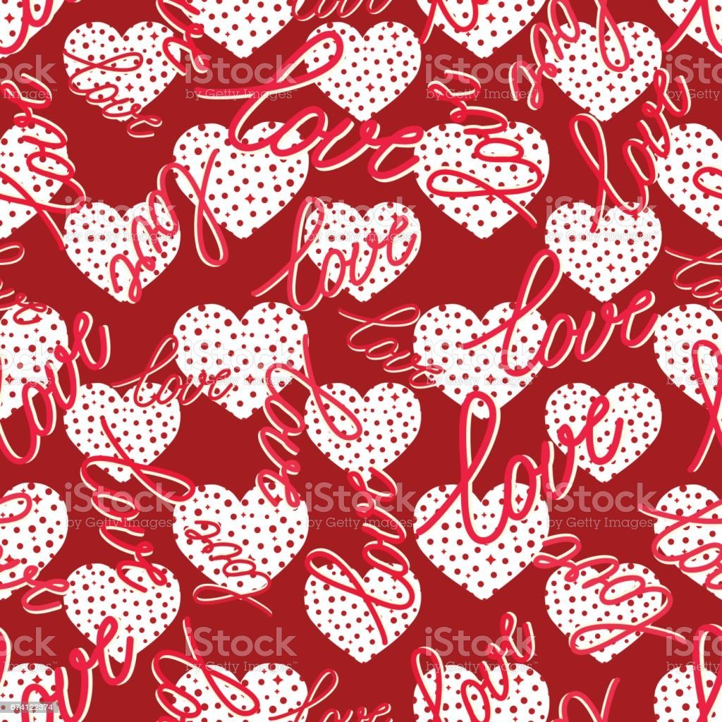 pattern with hearts seamless 免版稅 pattern with hearts seamless 向量插圖及更多 二月 圖片