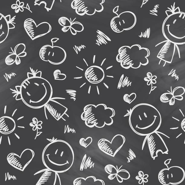 stockillustraties, clipart, cartoons en iconen met pattern with kids - baby dirty