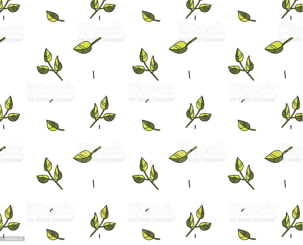 Pattern with leaves royalty-free stock vector art