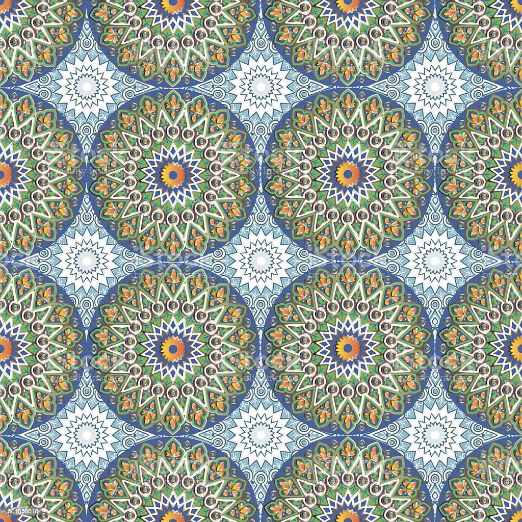 pattern with mandalas vector art illustration