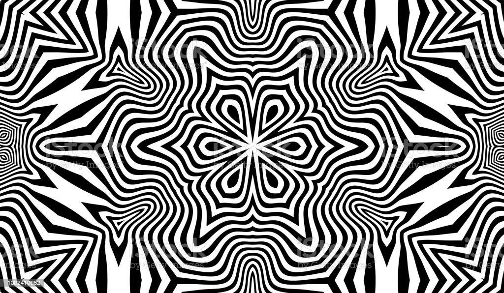 Muster Mit Optische Tauschung Schwarz Weiss Design Abstrakte