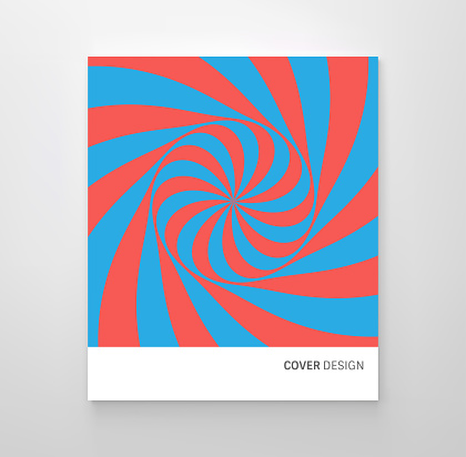 Pattern with optical illusion. Red and blue design. Abstract striped candy background. Vector illustration.