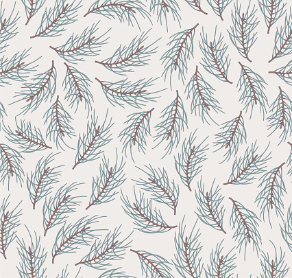 Pattern with pine branches