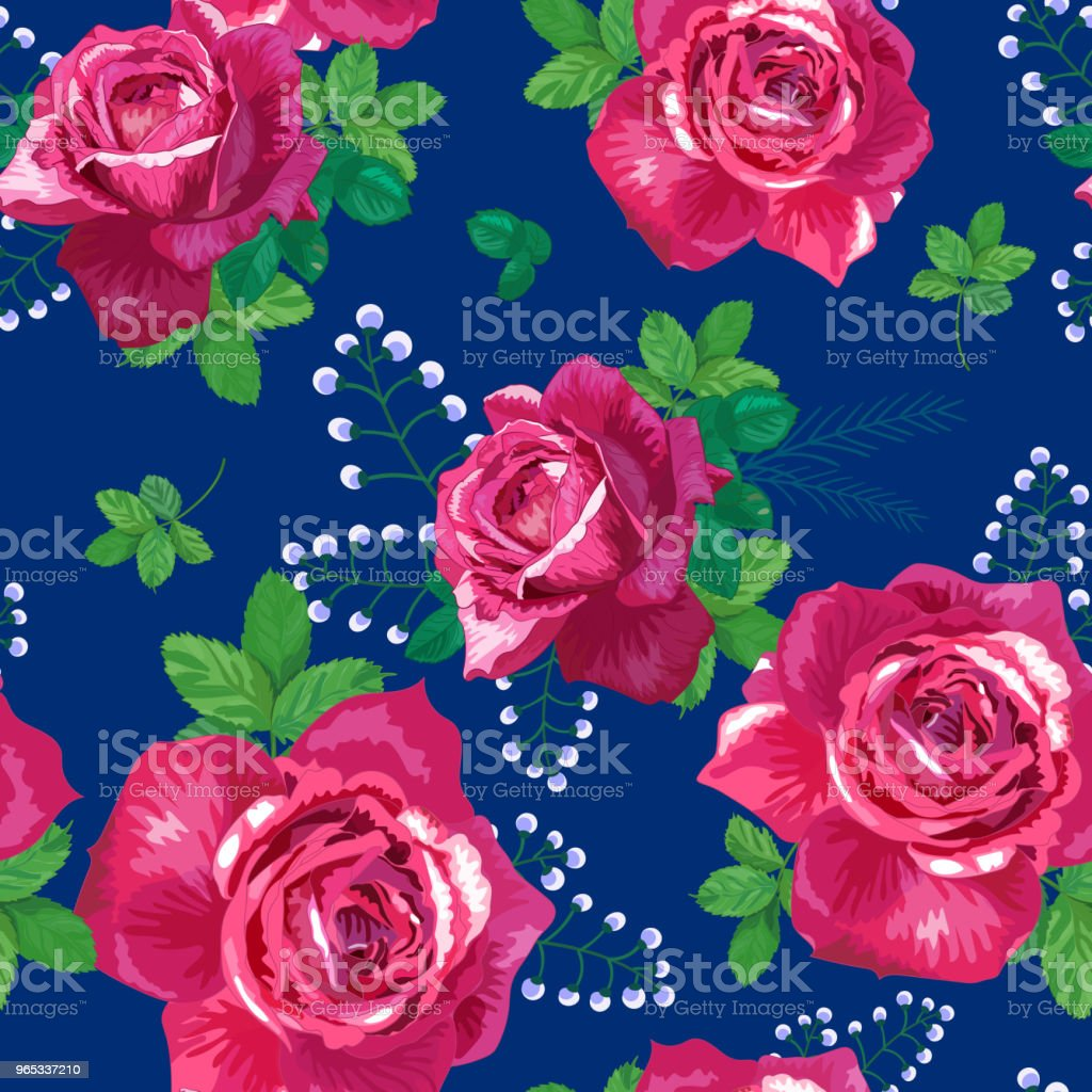 pattern with pink, red roses royalty-free pattern with pink red roses stock vector art & more images of backgrounds