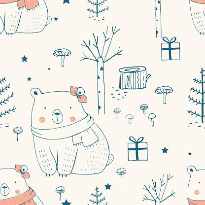 pattern with polar bear