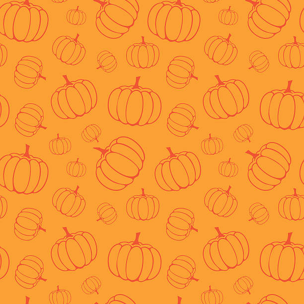 pattern with pumpkins bright orange seamless pattern for Halloween or Thanksgiving pumpkin stock illustrations