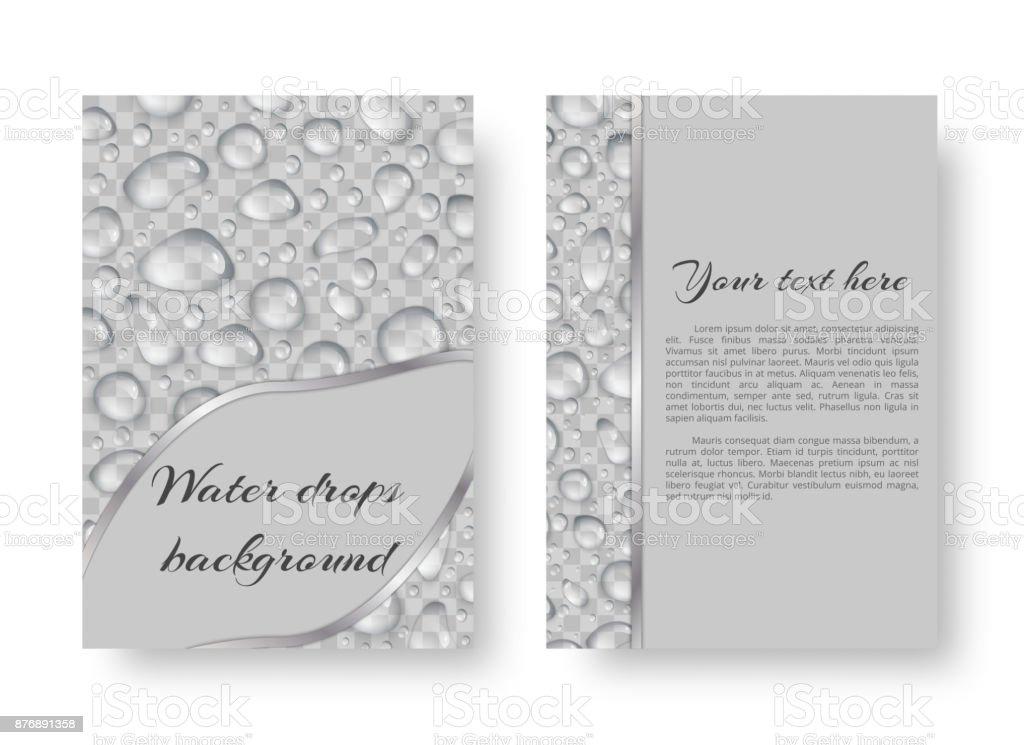Pattern with raindrops vector art illustration