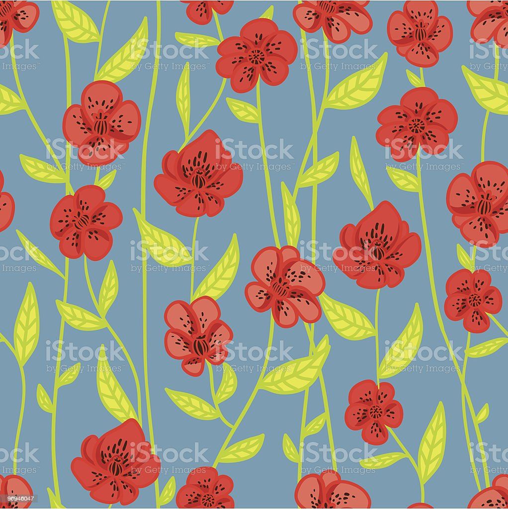 Pattern with red poppies royalty-free pattern with red poppies stock vector art & more images of backgrounds