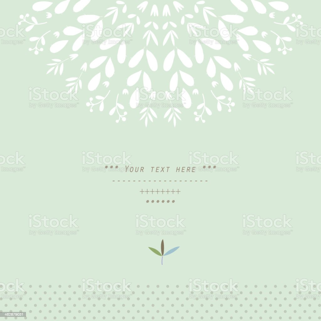 Pattern with vegetative elements in vector vector art illustration