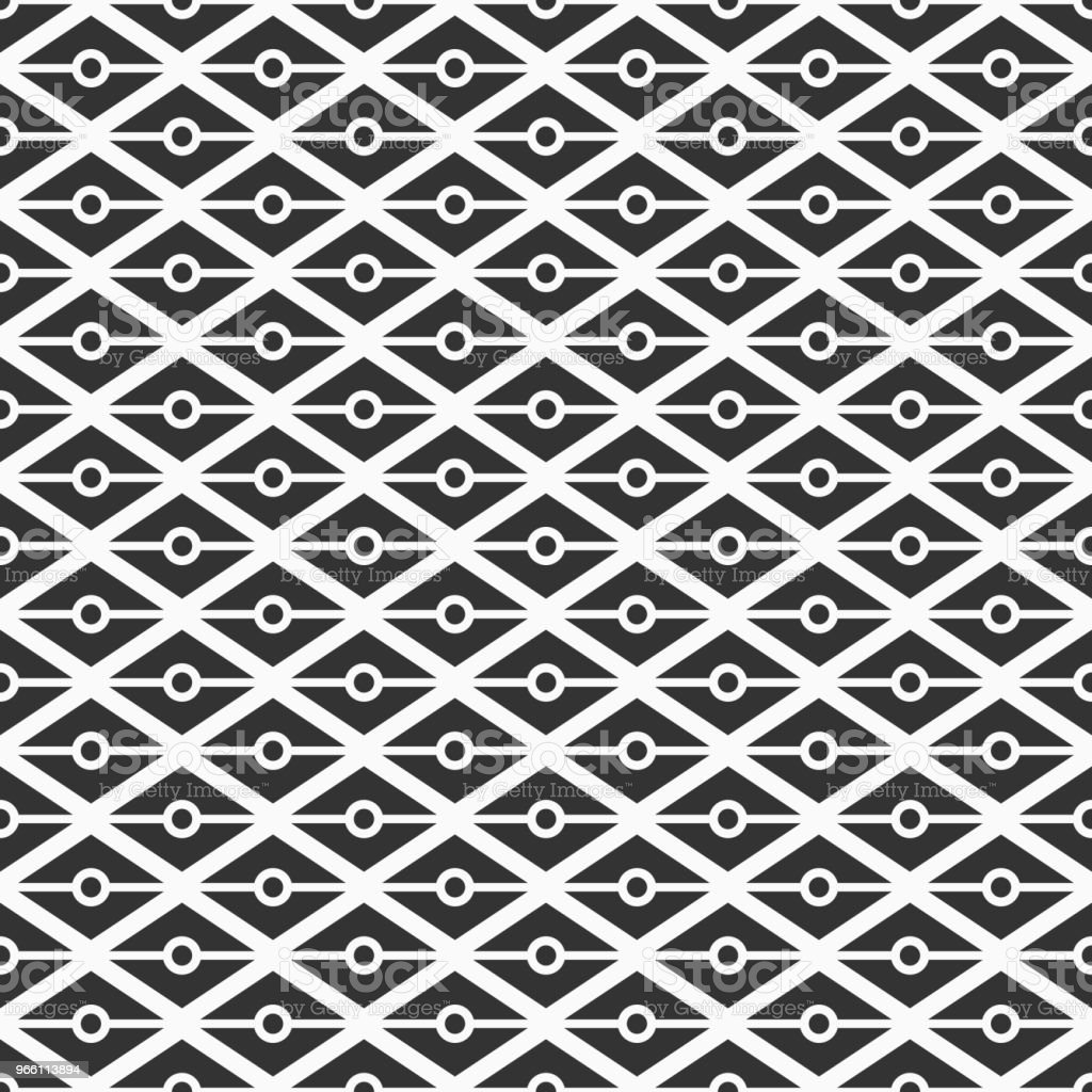Pattern_684_triangles_dots - Royalty-free Abstract vectorkunst