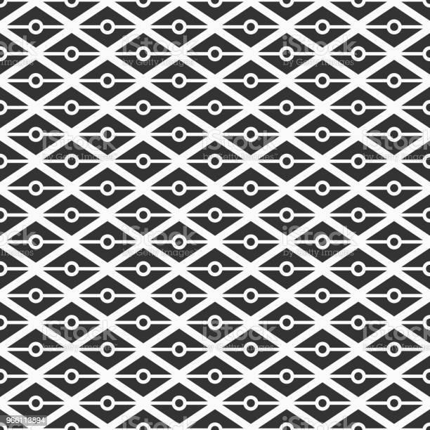 Pattern684trianglesdots-vektorgrafik och fler bilder på Abstrakt