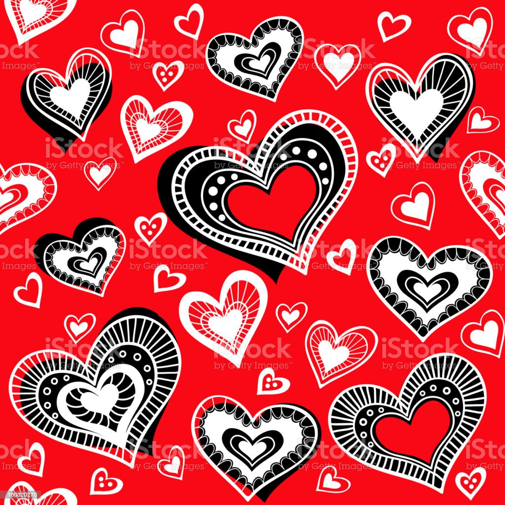 Pattern_Hearts_2 royalty-free patternhearts2 stock vector art & more images of backdrop